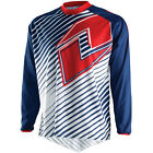 NEW 2015 ONE INDUSTRIES ATOM LINES MX DIRT BIKE JERSEY NAVY/ RED ALL SIZES
