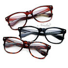 3 Pack Wayfarer Classic Reading Glasses Black Tortoise Brown Red Vintage Retro