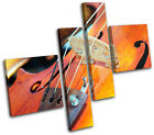 Violin INSTRUMENTS  Musical MULTI CANVAS WALL ART Picture Print VA
