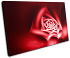 Roses Floral Abstract SINGLE CANVAS WALL ART Picture Print VA