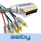 1.5m 3m Neotech Origin SCART to Component RGB Video +Stereo Audio Cable Shielded
