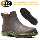 V12 VR610 Stallion Brown Full Grain Leather Toe Cap Safety Work Dealer Boots