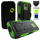 For Samsung Galaxy S5 Active G870 (AT&T) Future Tank Armor Case Cover & Holster