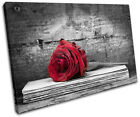 Roses Flowers Love Floral SINGLE CANVAS WALL ART Picture Print VA