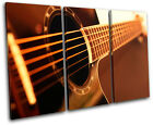 Guitar INSTRUMENTS  Musical TREBLE CANVAS WALL ART Picture Print VA