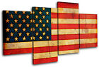 Abstract American Maps Flags MULTI CANVAS WALL ART Picture Print VA