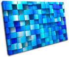 Squares Design Abstract SINGLE CANVAS WALL ART Picture Print VA