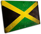 Abstract Jamaican Maps Flags SINGLE CANVAS WALL ART Picture Print VA