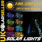 100/200/500 LED Solar String Fairy Lights Garden Party Xmas▲New Panel Arrived▲