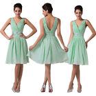 Deep V Ladies Mini Party Dress Cocktail Evening Ball Gowns Formal Pageant Proms
