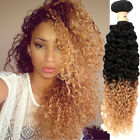 "WIGISS CURLY 10""-30""1B/27# 50G BRAZILIAN VIRGIN REMY UNPROCESSED HUMAN HAIR HOT"