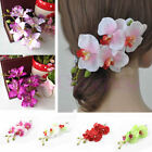 Lady Womens Flower Orchid Hair Clip Wedding Bridal Party Hair Head Accessories