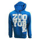 ZOO YORK HOODY DROP K MENS BLUE HOODED TOP UK S RRP £60