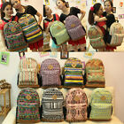 New Women Lady Floral Canvas Satchel Backpack Shoulder School Bag Handbag