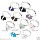 1pc Adjustable Women Hexagon Crystal Gemstone Charm Bead Healing Finger Ring Hot
