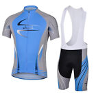 Mens Road Racing Bicycle Cycling Cycle Wear Clothing Shirt Jersey + Bib Shorts