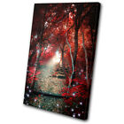 Landscapes Mystical Forest Trees SINGLE CANVAS WALL ART Picture Print VA