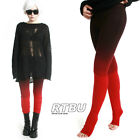 Mega Long Slouch Gathered Ruched Punk Tie Dip Dye Red Black Ombre Legging Tights