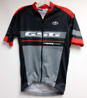 Poly CYCLING SHORT SLEEVE JERSEY (Black /Red) Made in Italy by GSG