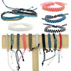Unisex Fashion Multi-Layer Wristband Couple Woven Bracelet Rope Braided Leather