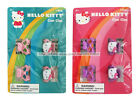 HELLO KITTY 4pc Claw Clips HAIR ACCESSORY w/Charm PINK/PURPLE Heart *YOU CHOOSE*