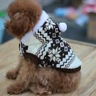 Warm Puppy Dogs Pets Fleece Snowflake Pattern Hoodie Sweater Coat Clothes XS-XL