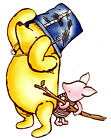 """6.5-10.5"""" DISNEY CLASSIC POOH PIGLET WALL SAFE STICKER CHARACTER BORDER CUT OUT"""