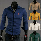 2014 New Mens Luxury Stylish Casual Dress Slim Fit T-Shirts Casual Long Sleeve