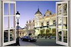 Huge 3D Window Maybach Hotel View Wall Stickers Film Decal Wallpaper Mural