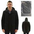Andrew Marc Otto Men's Parka Jacket Coat Packable Faux Down Black