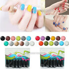 12pc Nail Art Soak Off Polish Gel Set UV LED Lamp Glitter Decoration Gift UV Gel
