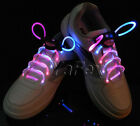 Funky Colourful Light Up LED Shoe Laces Boot Skater Glow Party Random Shoestring