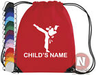 Personalised Martial arts karate judo kit bag. Drawstring - add child's name