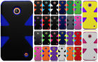 For Cricket Nokia Lumia 630 IMPACT TUFF HYBRID Protector Case Skin Phone Cover