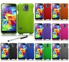For Samsung Galaxy S5 i9600 Solid Hard Case Hybrid Phone Cover + Stylus