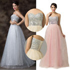 Bridal Bridesmaid Sequined Evening Wedding Prom Formal Party Cocktail Dress Long