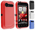 For HTC Droid Incredible 2 IMPACT RESISTANT Hard Rubberized Phone Case Cover