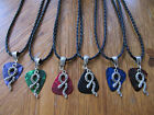 """Handcrafted Tibetan Silver Snake Guitar Pick Necklace Your choice of Color 18"""""""