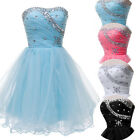 2014 SALABLE!!Sweet Girls Strapless Party Evening Bridesmaid Short Prom Dresses