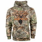 King's Camo Cotton Classic Hoodie Black Orange Logo Desert Shadow 3XL
