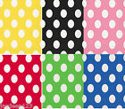 16 Polka Dots Spots Beverage Paper Napkins Party Supplies Tableware 6 Colours