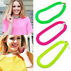 Statement Chunky Link Collar Bib Choker Snake Multicolor Chain Party Necklace