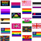 LGBT Gay Pride Flags 5x3 Rainbow 50+ Designs - Bisexual Transgender Pansexual