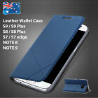 Galaxy S7 Edge Leather Wallet Card Flip Case Cover for Samsung S7 S8 S8+ Plus