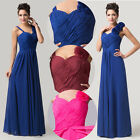 *Glam*Evening Formal Party Ball Gown Prom Bridesmaid Long Cocktail Pleated Dress