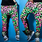 Fluorescent Stitching Womens Casual Harem Baggy Dance Sport Sweat Pants Trousers