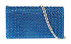 Gorgeous Woven Gemstones Clutch Bag Shoulder Chain Elegant Wedding Party