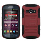For Samsung Galaxy Ring M840 Hybrid Combo KICKSTAND Rubber Case Phone Cover Red