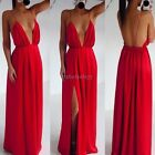 Lady Women Sexy Long Evening Gown Party Prom Bridesmaid Maxi Dress Size 6 10 14