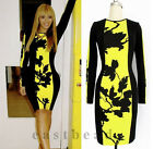 Women's O-Neck Long Sleeve Beyonce Dress Stretch Bodycon Pencil Dress Plus size